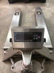 Pallet Jack With Scale, Fully Stainless Steel For Food Or Pharma Production