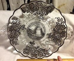 Vintage Duncan Miller Silver City 25th Anniversary Cake Plate