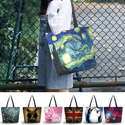 Washable Storage Shopping Bag Reusable Shoulder Tote Large Handy Grocery Bag Zip
