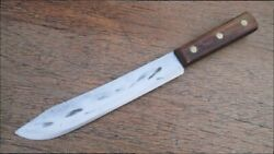 Vintage Russell 0331 Hammer-forged Carbon Steel Chef's Butcher Knife Razor Sharp