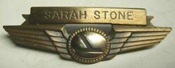 70s Eastern Airlines Flight Attendant Wing Sarah Stone - Balfour Maker