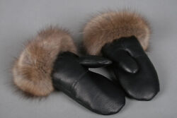 276 Sable Fur Mittens Noble Gloves Made Of Barguzin Sable And Leather Real Fur