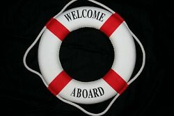 New Job Nautical Party Decor Welcome Aboard Life Ring Shipped From The U.s.