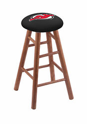 Holland Bar Stool Co. Oak Counter Stool In Medium Finish With New Jersey Devi...