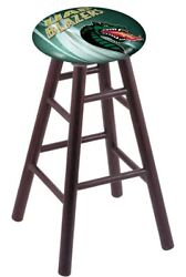 Holland Bar Stool Co. Oak Counter Stool In Dark Cherry Finish With Uab Seat R...