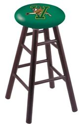 Holland Bar Stool Co. Oak Bar Stool In Dark Cherry Finish With Vermont Seat R...