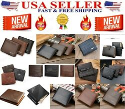 Men's  Leather Wallet Pockets ID Credit Card Holder Clutch Bifold Purse