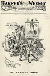 William Randolph Hearst Candidate Of Fools And Hooligans 1904 Wa Rogers Print
