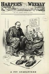 Grover Cleveland Big Shoes To Fill Albert Parker D.b. Hill 1904 Wa Rogers Print