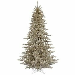 Vickerman 6.5and039 Deluxe Frasier Fir Artificial Christmas Tree With 700 Warm Whi...