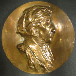 Bronze Coin / Medal Frederic Chopin By Robert Coutin 1810 - 1849