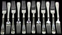 And Co 12 Lap Over Edge Plain Sterling Silver 7 1/8 Fork