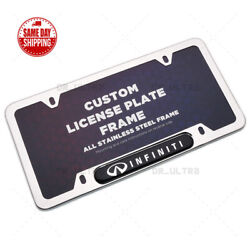 Infiniti IPL Sport License Frame Plate Custom Cover Stainless Steel Chrome $19.99