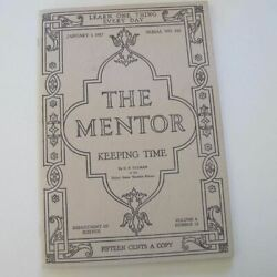Keeping Time - The Mentor January 1917 Sundials, Watches And Clocks - Reprint
