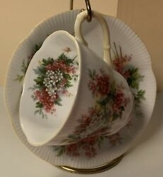 Authentic Vintage English Royal Albert Tea Cup/saucer-blossom Time-hawthorn