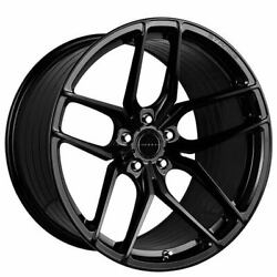 4ea 19 Staggered Stance Wheels Sf03 Gloss Black Rims W/ Tires