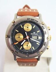 Vintage S/steel Pryngeps Chronograph Automatic Day Date Watch 4025 C.1970s Exlnt