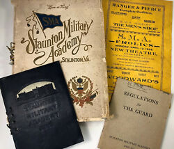 Staunton Military Academy Commencement Book Theatre Guard Catalog Booklet 1926