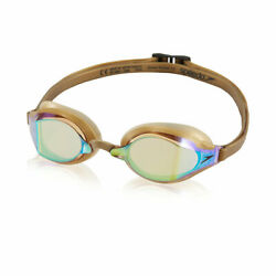 Speedo Speed Socket 2.0 Mirrored Goggle GOLD Metallic Goggles New in Package