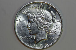 1923-d Mint State 360 Degree Die Crack Ob Ms 90 Silver Peace Dollar Pdx1277