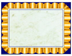 Hayes Replacement Blank Certificate With Borders, 8-1/2 X 11 In, Paper, Gold ...
