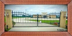 On Sale Inc Post Pkg Driveway Gate 12and039 Wd Steel Home Security Veterans Discount