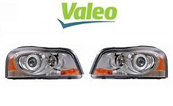 Valeo Pair Set Of 2 Front Headlight Lamps Xenon Assemblies For Volvo Xc90 03-14