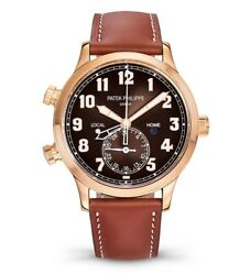 Patek Philippe NEW 5524R Complications 18k Rose Gold Pilots Watch BoxPapers