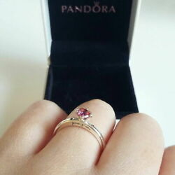 New Authentic Pandora You And Me Ring Multi-colored Cz Ring Size 56789