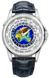 Patek Philippe NEW SEALED World Time Watch 18k White Gold BoxPapers 5131G