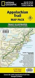 National Geographic Maps Entire Appalachian Trail Me To Ga Map Pack Bundle