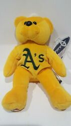 Mlb Oakland Athletics Forever Collectibles Gold Teddy Stuffed Beanie Sga Nice