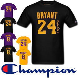 🔥 Kobe Bryant Mamba Out #8 24 Retirement Jersey Style T Shirt S 6X U CHOOSE IT $21.96