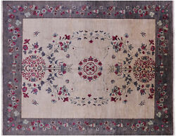 8and039 X 10and039 William Morris Handmade Area Rug - Q4239