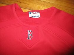 Red BOSTON RED SOX Warm Up Pullover Shirt Lsrge Majestic Therma Base