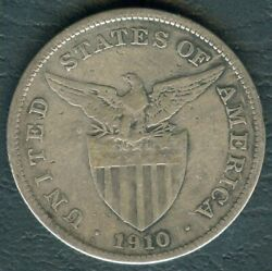 1910-s Us Administration Philippines 1 Peso Silver Coin - Stock B9