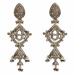 Pave Diamond Chandelier Earrings 14k Gold 925 Silver Jewelry Gift For Her