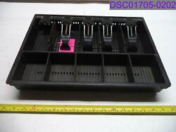 Used Missing 1 Flap 5 Slot Bill And Coin Cash Register Drawer Insert 16 X 11-3/4