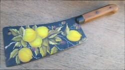 Beautiful Decorative Folk Art Painted Antique Foster Bros Butcher's Meat Cleaver