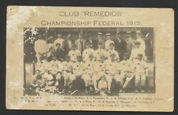 1915 Remedios Champions Of The Federal League Team Postcard W/ Negro Leaguers