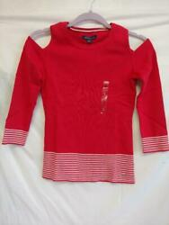 TOMMY HILFIGER COLD SHOULDER KIDS SWEATER SIZE S P STYLE: RM87688066 612 $24.99