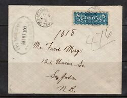 Canada F3 Very Fine Used On Rare Cover With Certificate
