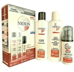 Nioxin System 4 Cleanser Shampoo Scalp Therapy Conditioner + Treatment 3 Pc Set