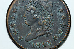 1813 Classic Head Liberty Large Cent Coin Corrosion Grades Extra Fine Lrg725