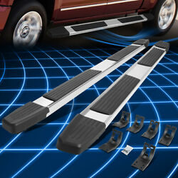 For 09-20 Dodge Ram Extended/quad Cab 6 Chrome S/s Flat Step Bar Running Boards