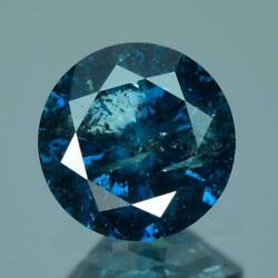 2.02 Cts Sparkling 7.95 X 4.88 Mm 100 Natural Nice Blue Color Enhanced Diamond