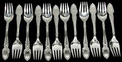 And Co Broom Corn 12 Sterling Silver 6 3/4 Fish Forks