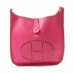 Hermes Evelyn 3Gm Shoulder Bag Rose Terrier Vau Epson Rank A