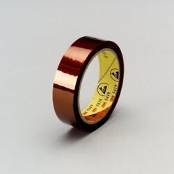 3m 5419 Low Static Polyimide Film Tape 5419 Gold, 2 In X 36 Yd 2.7 Mil