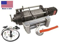 Hydraulic Winch For 99 To 04 Ford Truck - 12000 Lb Cap - Waterproof - Reversible